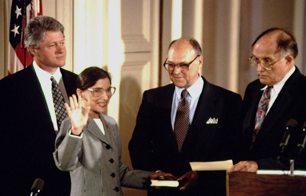SWEARING-IN OF RUTH BADER GINSBURG